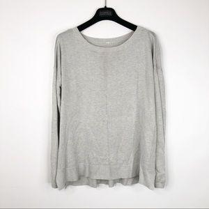 Lululemon Well Being Sweater Heathered Gray Vapor